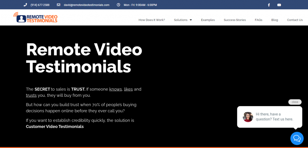 Remote Video Testimonials | Customer Review Software