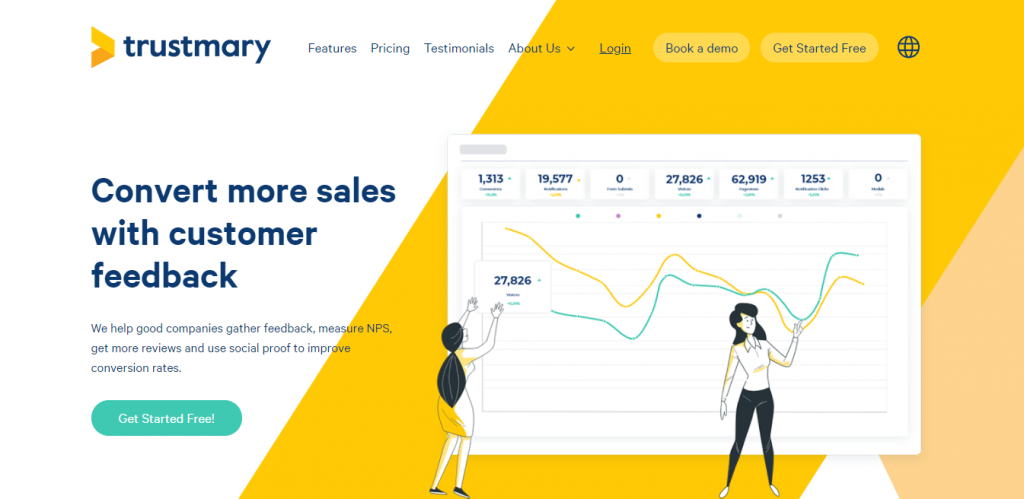 Trustmary Easiest way to gather feedback and get more sales with them!