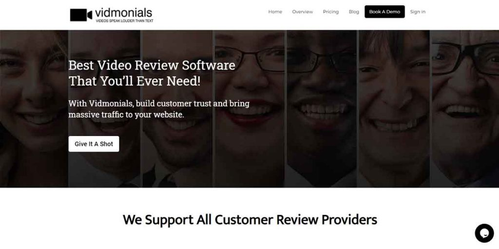 Vidmonials - Customer Review Software