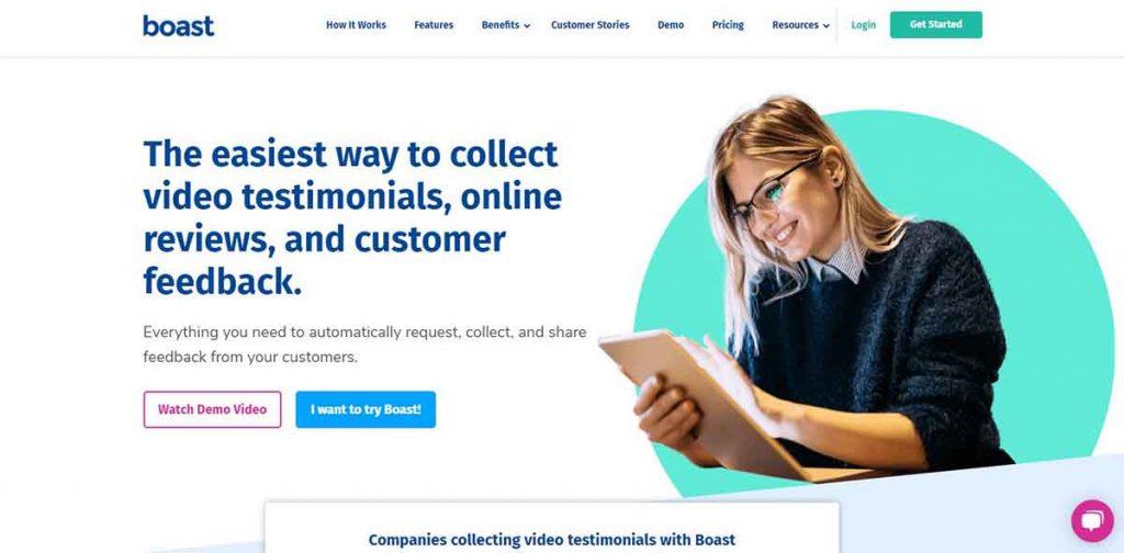 boast - customer feedback tools