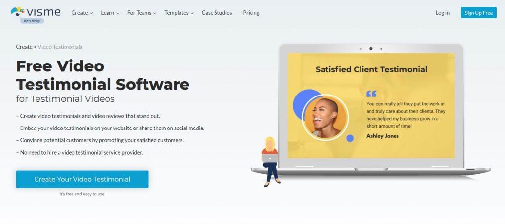 visme - Customer Review Software