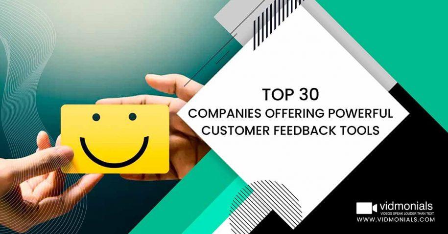 Companies Offering Powerful Customer Feedback Tools