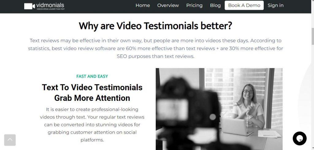 Why Vidmonials Better
